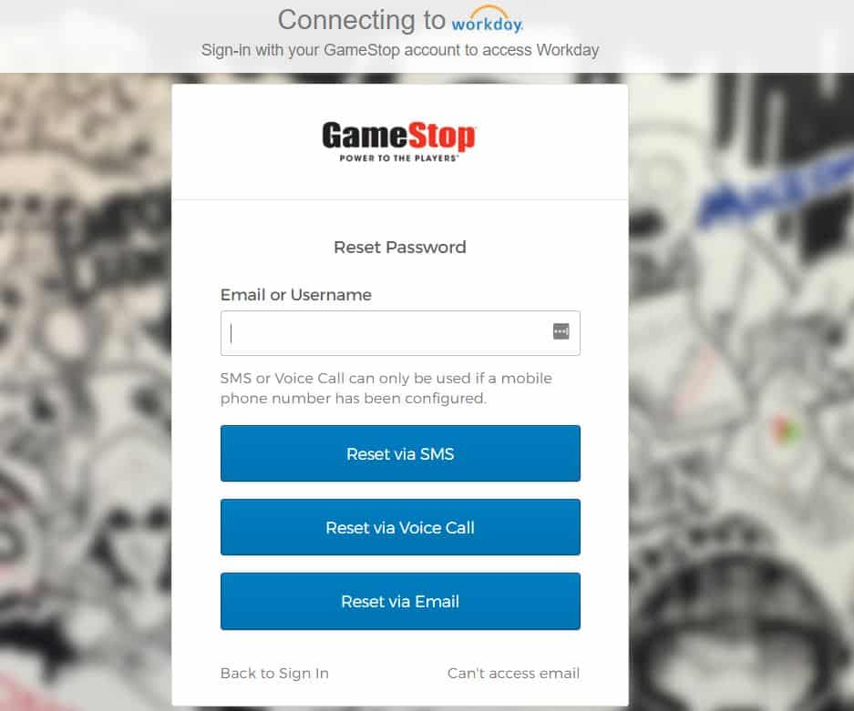 Forgot GameStop Workday Password