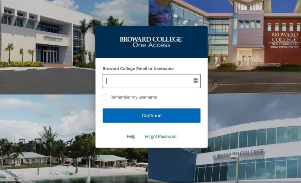 Login into Broward College D2L