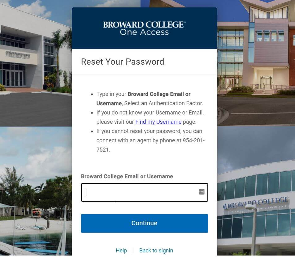 Reset the Password of Broward College D2L