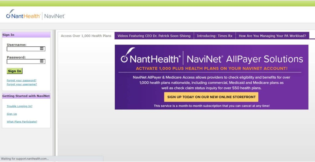 Sign In To NaviNet
