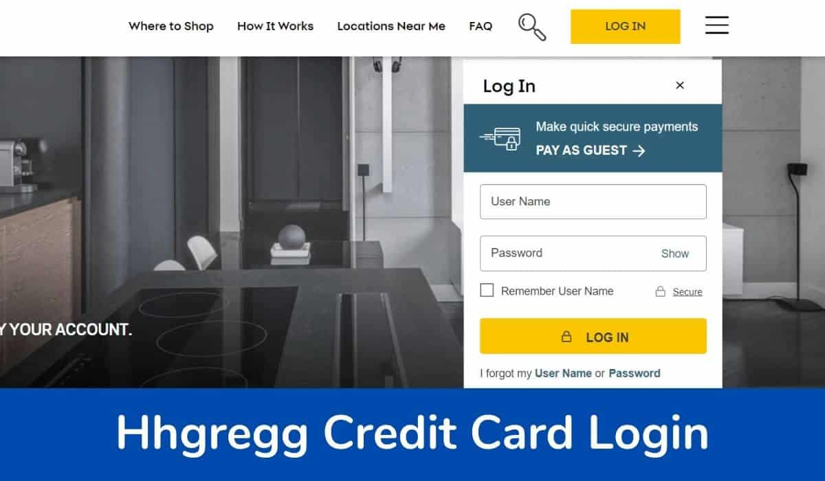 Hhgregg Credit Card Login